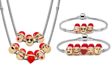 Pulseras y collares con hasta 10 abalorios navideños
