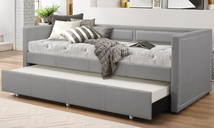Fabric Nailhead Trim Sofa Daybed Groupon Goods