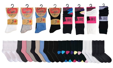 Womens Socks 12- or 24-Pack