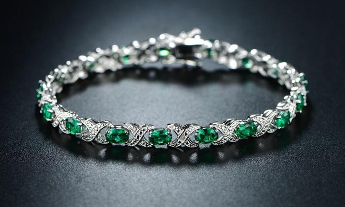 20 03 Cttw Emerald Bracelet Groupon Goods