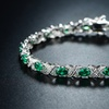 20.03 CTTW Lab-Created Russian Emerald Tennis Bracelet