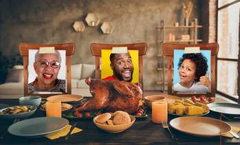 Free Family Thanksgiving Stand-Ins