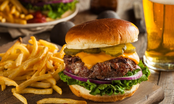 Jackpot Saloon - Union Grove: Burgers, Sandwiches, and Wings for Lunch for Two or Four at Jackpot Saloon (Up to 47% Off)