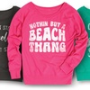 Women's Beach Cover-Up Slouchy Sweatshirts