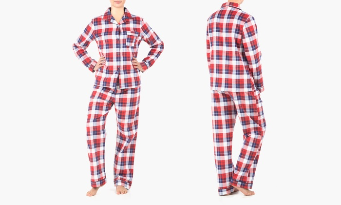 Sociology Women's Flannel Pajama Set (2-Piece) | Groupon Exclusive   (Sizes S & L)