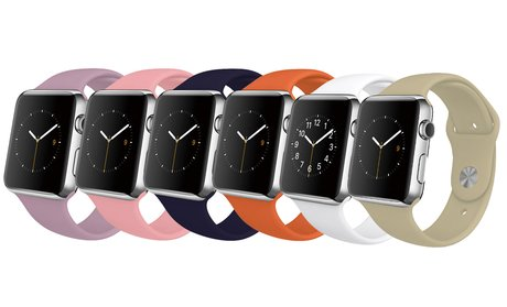 Silicone Sport Replacement Band for Apple Watch Series 1 and 2