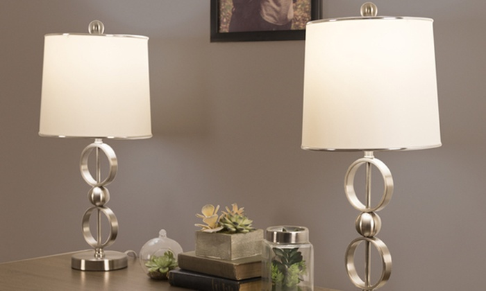 Table Lamps With 2 LED Bulbs By Lavish Home (Set Of 2) ...