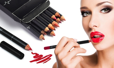 One, Two, Three, or Four 12-Piece Makeup Matte Lip Pencil Sets