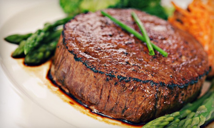 Ounce Steakhouse - Far North Central: $50 for $100 Worth of Steaks, Seafood, and Lamb Plus a $20 Gift Card at Ounce Steakhouse ($120 Value)