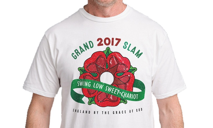 Groupon Goods Global GmbH: Men's England Slam Champions 2017 Rugby T-Shirt for £9.98 (41% Off)