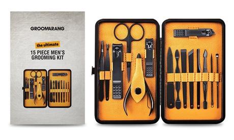 Hasta 3 kits de aseo para hombres de 15 piezas
