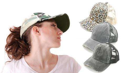 1 o 2 gorras con abertura para diferentes peinados