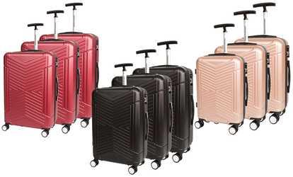 Acheter sur Groupon CDB, set 3 valises 8 roues 360° f8e07592290c