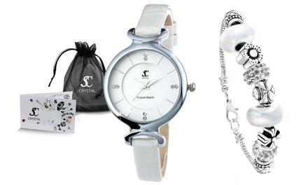 Reloj y/o pulsera Sc Crystal Paris decorados con cristales Swarovski®
