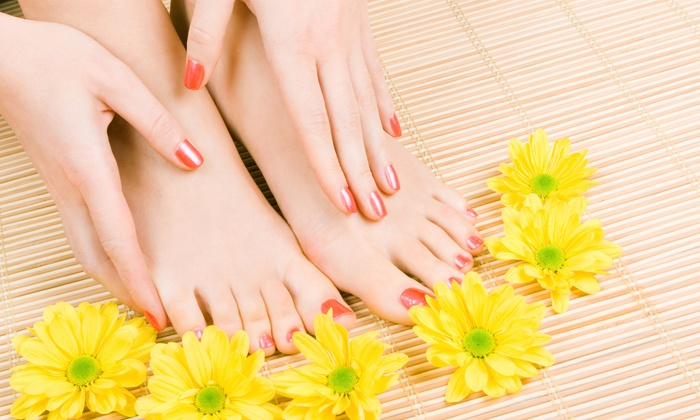 Nails By Honey - El Cajon: One or Two Spa or Shellac Mani-Pedis at Nails By Honey (Up to 51% Off)