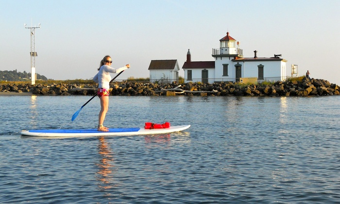 Washington Surf Academy - Washington Surf Academy: Two-Hour Standup-Paddleboard Lesson Tour for One or Two at Washington Surf Academy (Up to 51% Off)