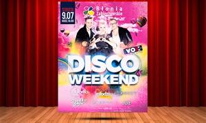 Disco Weekend: 2 bilety na festiwal Disco Weekend z VOX FM za 19,99 zł i więcej opcji – Piękni i Młodzi, Łobuzy, Kordian i inne gwiazdy