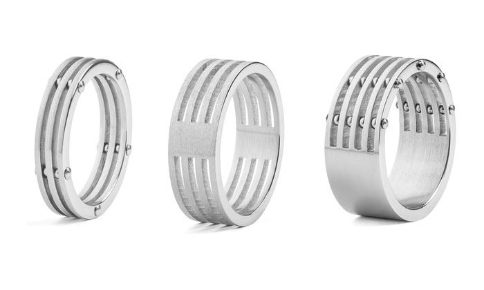 Men's Split Rings in Stainless Steel: Men's Split Rings in Stainless Steel