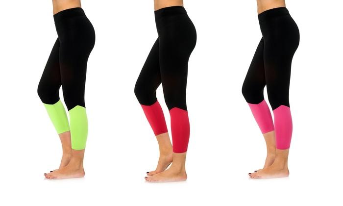 Women's Breathable Active Capris in Regular and Plus Sizes: Women's Breathable Active Capris in Regular and Plus Sizes