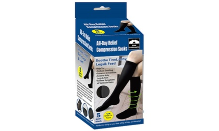 All Day Relief Compression Socks (5-Pack)
