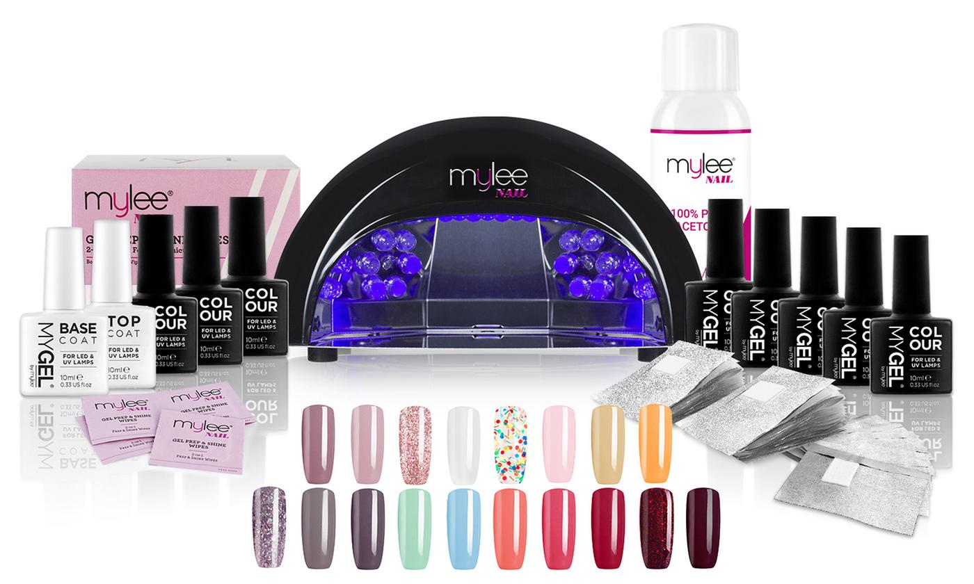 Mylee 12W LED Lamp with Optional Two-, Four- or Eight-Colour Gel Nail Kit