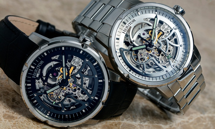 Heritor Automatic Ryder Skeleton Watch With Free Delivery