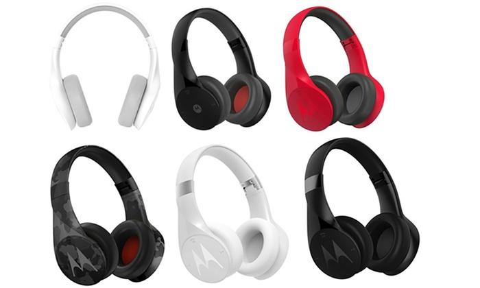 Motorola Pulse Escape Series Over Ear Wireless Headphones With Mic Groupon