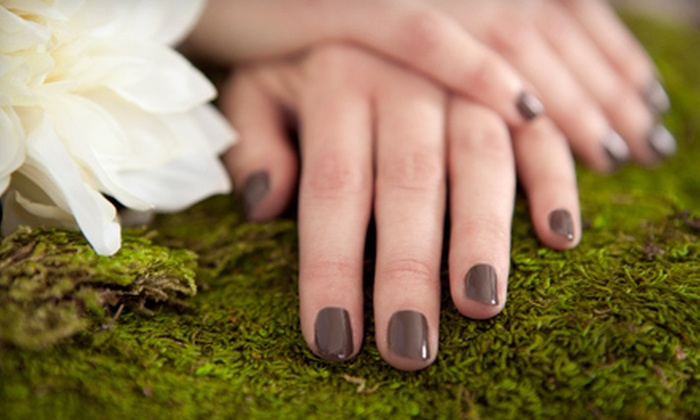 Kiss Spa at J. Alison Salon and Day Spa - Railway Plaza: $22 for a No-Chip Manicure at Kiss Spa at J. Alison Salon and Day Spa ($45 Value)