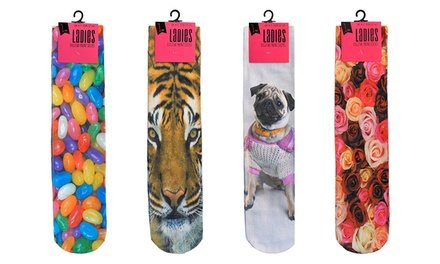 Women's Digital Print Socks