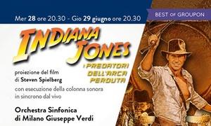Indiana Jones e i predatori dell'arca perduta con orchestra dal vivo all'Auditorium di Milano: Indiana Jones e l'arca perduta con orchestra dal vivo, il 28 e 29 giugno all'Auditorium di Milano (sconto 46%)