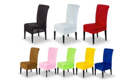 2, 4 o 6 fundas para silla de tela elástica
