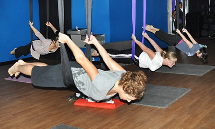 G-Force Fitness - Kentwood: One Aerial Yoga Class or Eight Group Fitness Classes at G-Force Fitness (Up to 60% Off)
