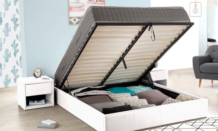 jusqu 39 64 lit coffre 2 places groupon. Black Bedroom Furniture Sets. Home Design Ideas
