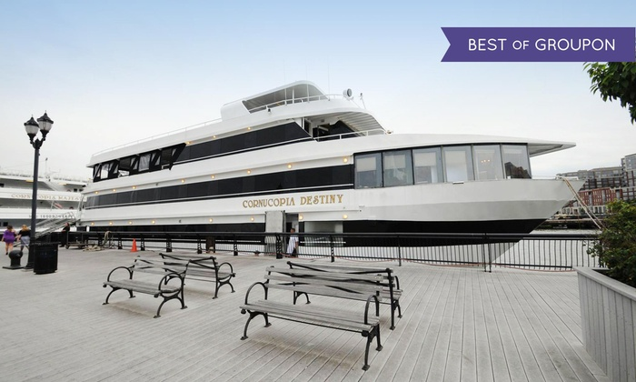 Cornucopia Cruise Line - Perth Amboy: Cruise for Two with Brunch, Dinner Buffet, Lunch, or 4-Course Dinner from Cornucopia Cruise Line (Up to 42% Off)