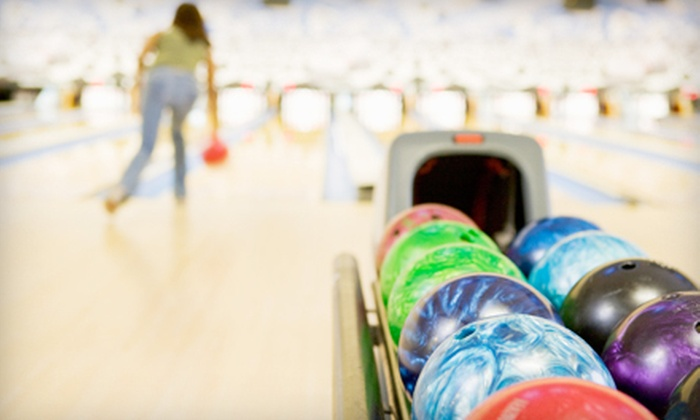 Bowlerama Royale - Argyle: Two Games of Bowling for Four or Ten with Shoe Rentals and Snacks at Bowlerama Royale (Up to 70% Off)