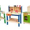 Kids' Wooden Tool Bench Play Set