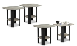 Furinno Simple Design End Table Set (2-Piece)