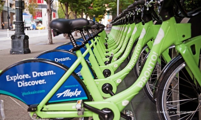 Pronto Cycle Share - Seattle: Three 24-Hour Passes or a One-Year Premium Membership with Pronto Cycle Share (Up to 40% Off)