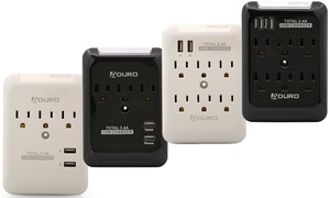 Aduro Multi Surge Protector with Dual USB Ports (1 or 2-Pack)