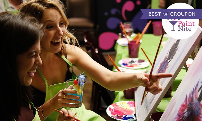 Paint Nite - Multiple Locations: One, Two, or Four Tickets to a 2-Hour Social Painting Event from Paint Nite (Up to 46% Off)