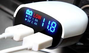 iMounTEK LED Display Dual-USB Car Charger
