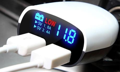 iMounTEK LED Display Dual-USB Car Charger 821a8b32-b35a-11e6-bca6-00259069d7cc