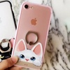 Cat Design iPhone Case with Ring Holder