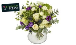 Les fleurs de Nicolas: Votre bouquet de fleurs, au choix à 19,90 € au lieu de 29,90 € (33% de réduction) chez Les Fleurs de Nicolas