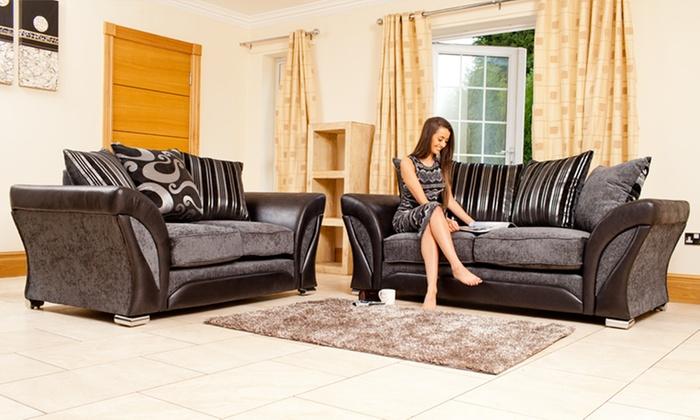 Superb Farrow Fabric Three Plus Two Sofa Groupon Goods Pabps2019 Chair Design Images Pabps2019Com