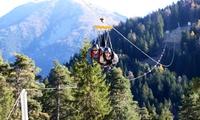 Vol pour 1 ou 2 personnes sur la plus grande tyrolienne de France à la station de la Colmiane dès 29,50 €