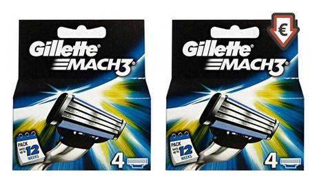 Fino a 32 lamette Gillette Mach 3 da 16,99 €