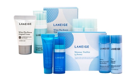 From $9.90 for a Laneige 5-Piece White Plus Renew Kit (worth up to $60). 4-Piece Moisture Kit Available