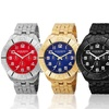 Men's Akribos XXIV Multi-Function Stainless Steel Bracelet Watch