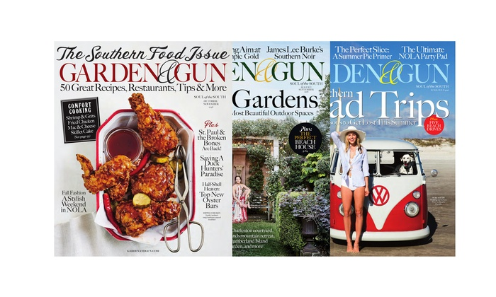 1,Year, 6,Issue Subscription to Garden \u0026 Gun Magazine